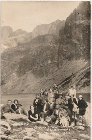 ZAKOPANE. Czarny Staw Gąsienicowy, 1934; fot. cz.-b.; stan db