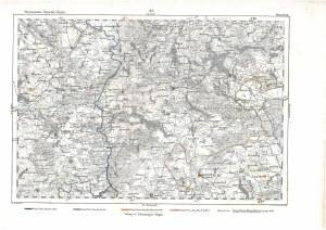 DRAWSKO POMORSKIE. Mapa części Pomorza Zachodniego z miejscowościami