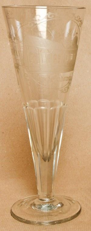 KUDOWA-ZDRÓJ. Pokal o pojemności 0,4 litra, szkło ręcznie szlifowane