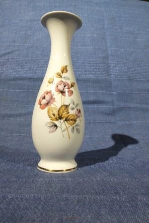 WAZONIK. Wazonik; porcelana, motywy roślinne, st. bdb, wys.: ok. 190 mm