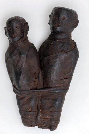 Figurka bliźniąt, plemię PARE, Tanzania, Afryka, ok. poł. XX w.